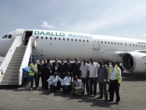 Dallos airbus makes maiden flight to Egal international Airport in Hargeisa Somaliland